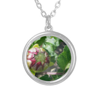 autumn bud silver plated necklace