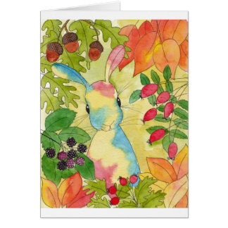 Autumn Bunny by Peppermint Art Card
