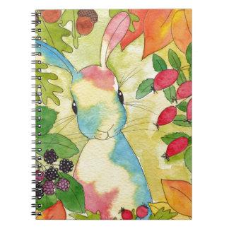 Autumn Bunny by Peppermint Art Notebook