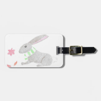 Autumn Bunny Luggage Tag