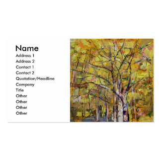 Autumn Pack Of Standard Business Cards