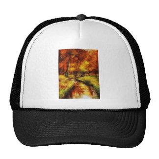 Autumn - By a little bridge - Painting Mesh Hat