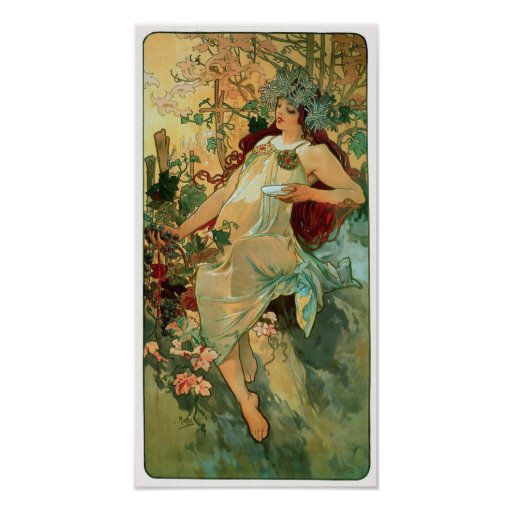 Autumn by Alphonse Mucha ~ Art Nouveau Poster