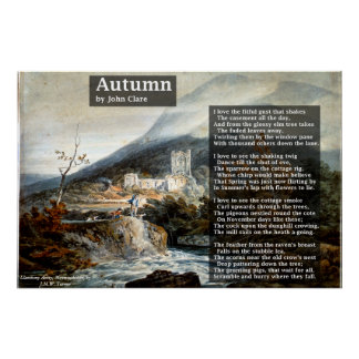 Autumn by John Clare Poetry Poster