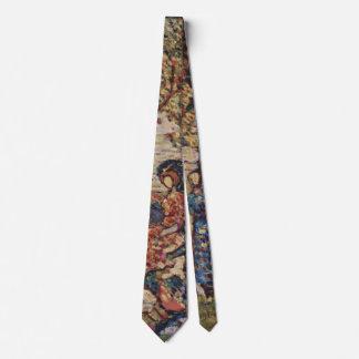 Autumn by Prendergast, Vintage Post Impressionism Tie