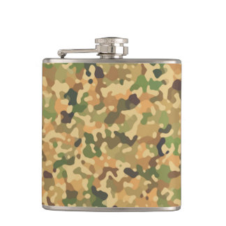 Autumn Camo Fall Colors Hip Flask