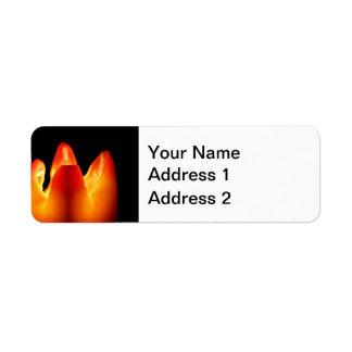 Autumn Candle Glow Return Address Label