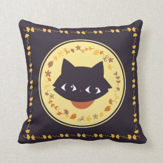 Autumn cat pillow