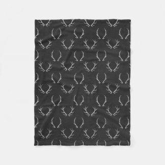 Autumn Chalkboard Antler Pattern Fleece Blanket