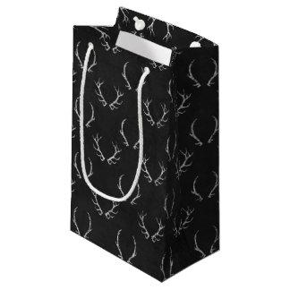 Autumn Chalkboard Antler Pattern Small Gift Bag