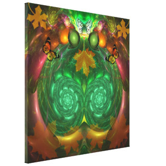 Autumn Cheer artistic Fall Gallery Wrapped Canvas