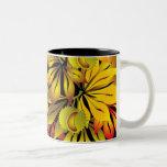 autumn chestnut leaves Two-Tone coffee mug