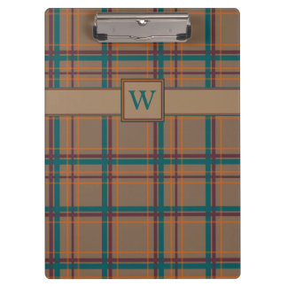 Autumn Chic Plaid Clipboard