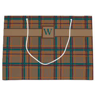 Autumn Chic Plaid Gift Bag