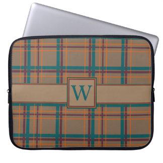 Autumn Chic Plaid Laptop Sleeve