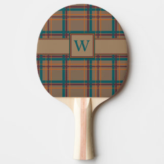 Autumn Chic Plaid Ping Pong Paddle