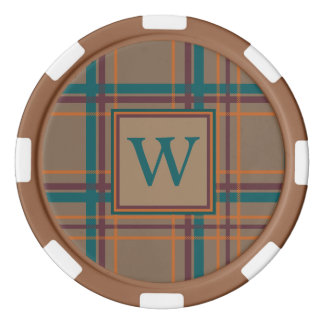 Autumn Chic Plaid Poker Chip