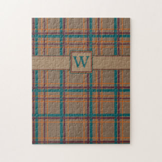 Autumn Chic Plaid Puzzle