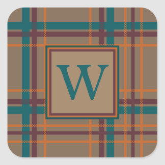Autumn Chic Plaid Sticker