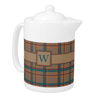 Autumn Chic Plaid Teapot