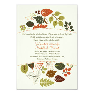 Autumn Circle Invitation
