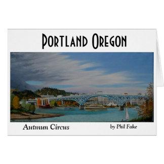 Autumn Circus notecard