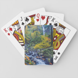 Autumn Color Along Starvation Creek Falls 2 Playing Cards