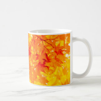 Autumn Color Orange Leaves Classic Mug