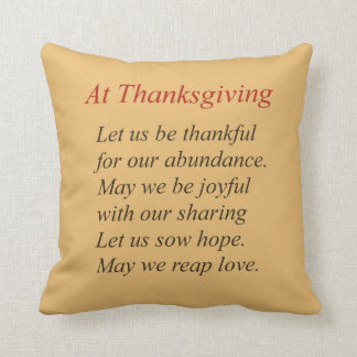 Autumn Color Thanksgiving Poem Cushion