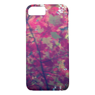 Autumn colored leaves falling phone case