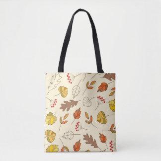 Autumn colorful leaves tote bag