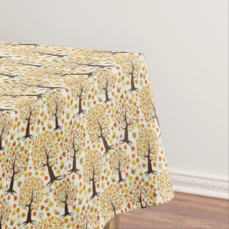 Autumn Colorful Leaves Trees Thanksgiving Decor Tablecloth