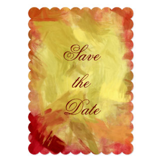 Autumn Colors Abstract Art Save the Date Card