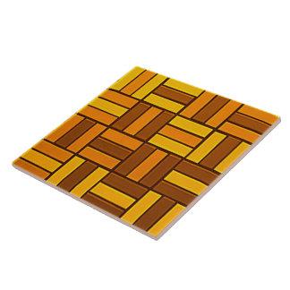 Autumn colors, ceramic-look tiled pattern large square tile
