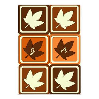Autumn Colors Fall Leaf Wedding RSVP Response 3.5x5 Paper Invitation Card