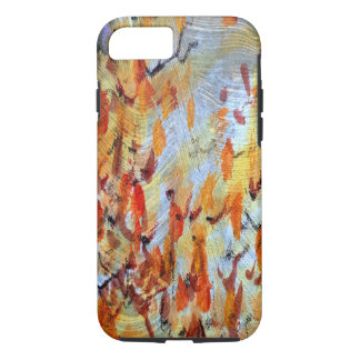 Autumn Colors Fall Leaves Textured Phone Case