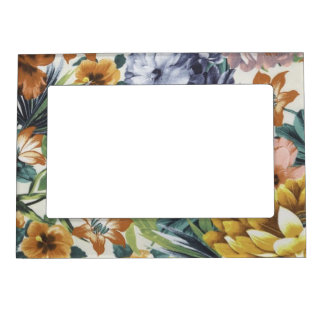 Autumn Colors Floral Magnetic Picture Frame