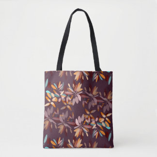 Autumn colors foliage print tote bag