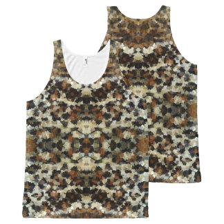 Autumn Colors Funny Mosaic Pattern All-Over Print Singlet