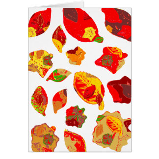 Autumn Colors Leaf Pattern Greeting Card