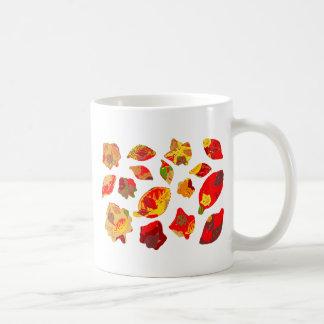 Autumn Colors Leaf Pattern Coffee Mugs