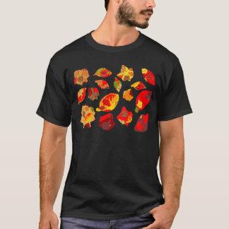 Autumn Colors Leaf Pattern T-Shirt