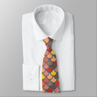 Autumn Colors Mermaid Scales Pattern Tie