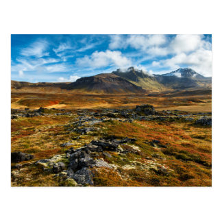 Autumn colors on the landscape postcard