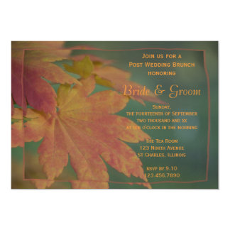 Autumn Colors Post Wedding Brunch Invitation