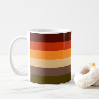 Autumn Colors - Red Orange Yellow Tan Green Brown Coffee Mug