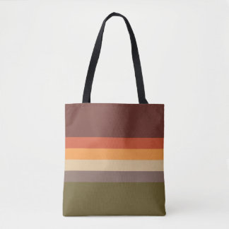 Autumn Colors - Red Orange Yellow Tan Green Brown Tote Bag