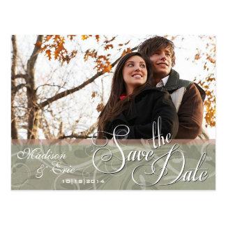Autumn Colors Simple Save the Date Postcard