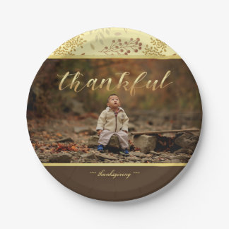 Autumn Colors, Thankful Photo Paper Plate