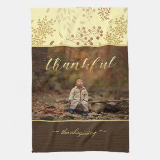 Autumn Colors, Thankful Photo Tea Towel